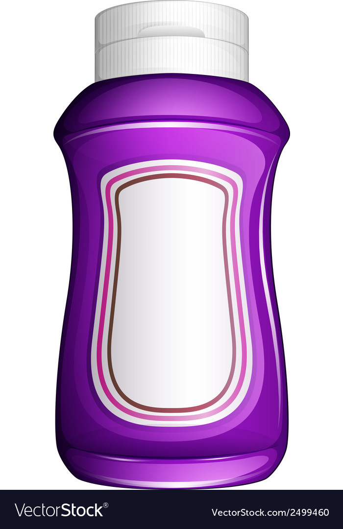 A purple generic bottle vector | Price: 1 Credit (USD $1)