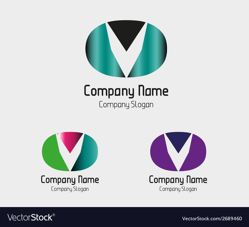Abstract business logo letter v company logo vector | Price: 1 Credit (USD $1)