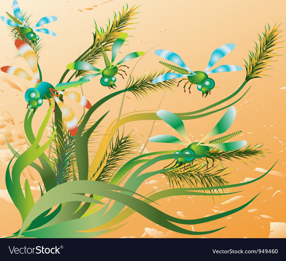 Abstract lines vegetative motives vector | Price: 1 Credit (USD $1)
