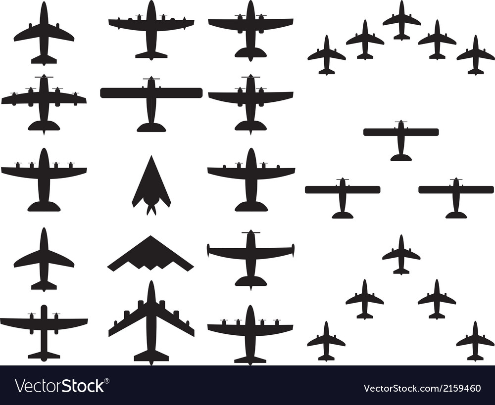 Airplains top view vector | Price: 1 Credit (USD $1)