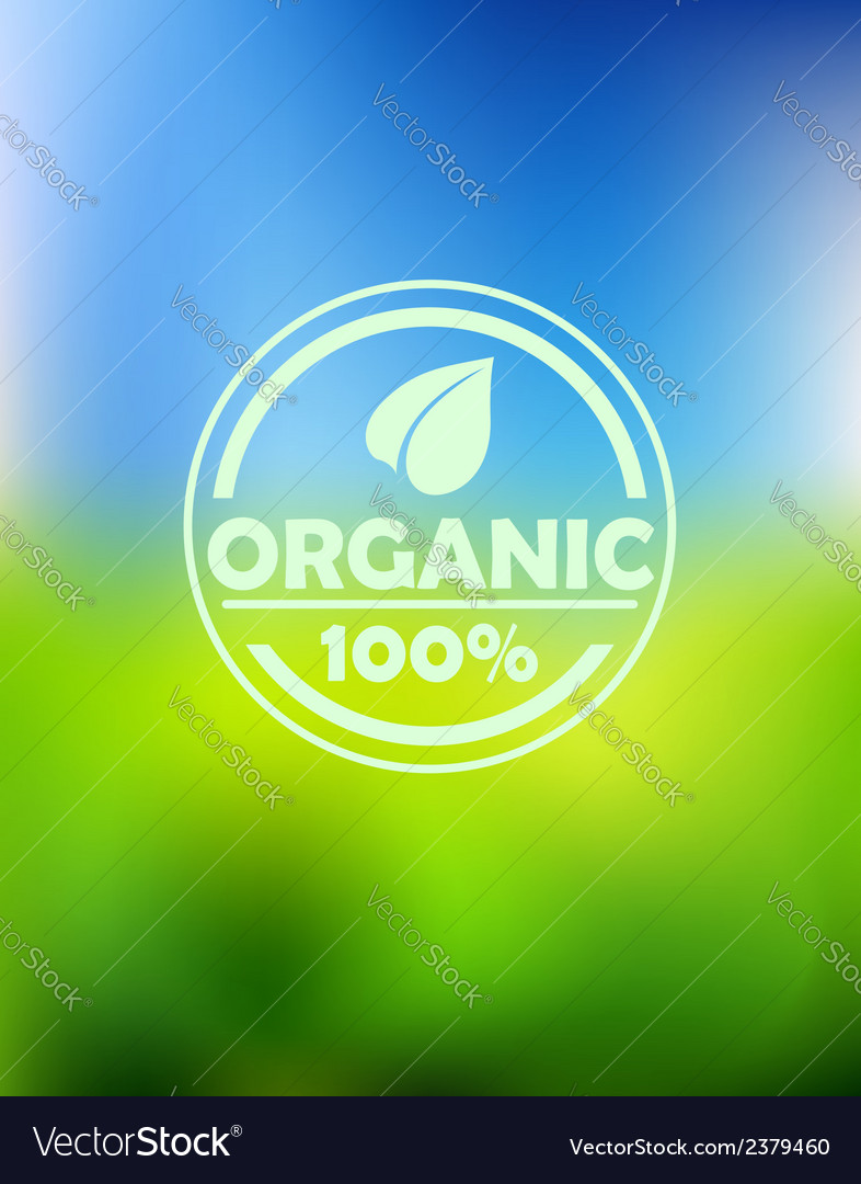 Bio organic label vector | Price: 1 Credit (USD $1)
