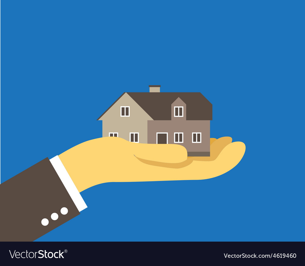 House on the palm vector   Price: 1 Credit (USD $1)