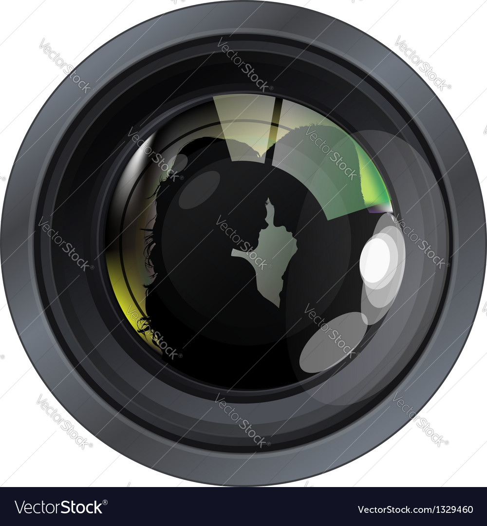 Lense with people vector | Price: 1 Credit (USD $1)