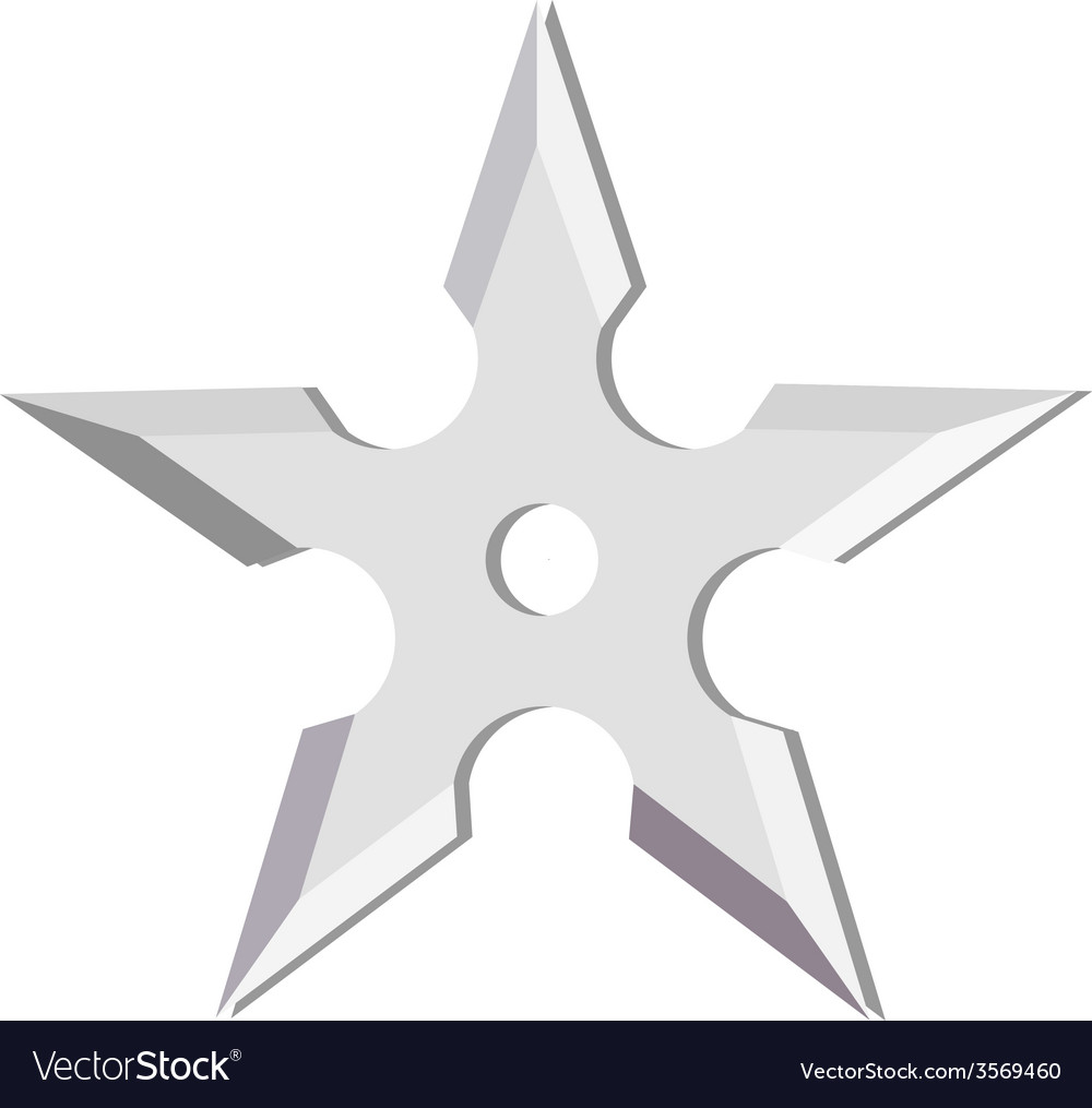 Ninja throwing star vector | Price: 1 Credit (USD $1)