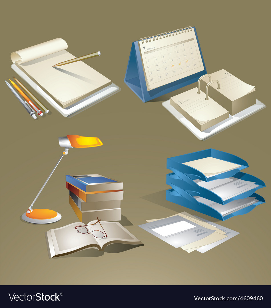 Office equipments vector | Price: 1 Credit (USD $1)