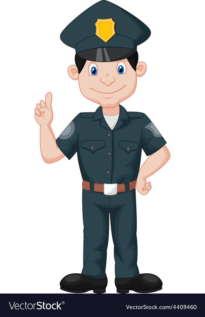 Policeman in uniform vector | Price: 1 Credit (USD $1)