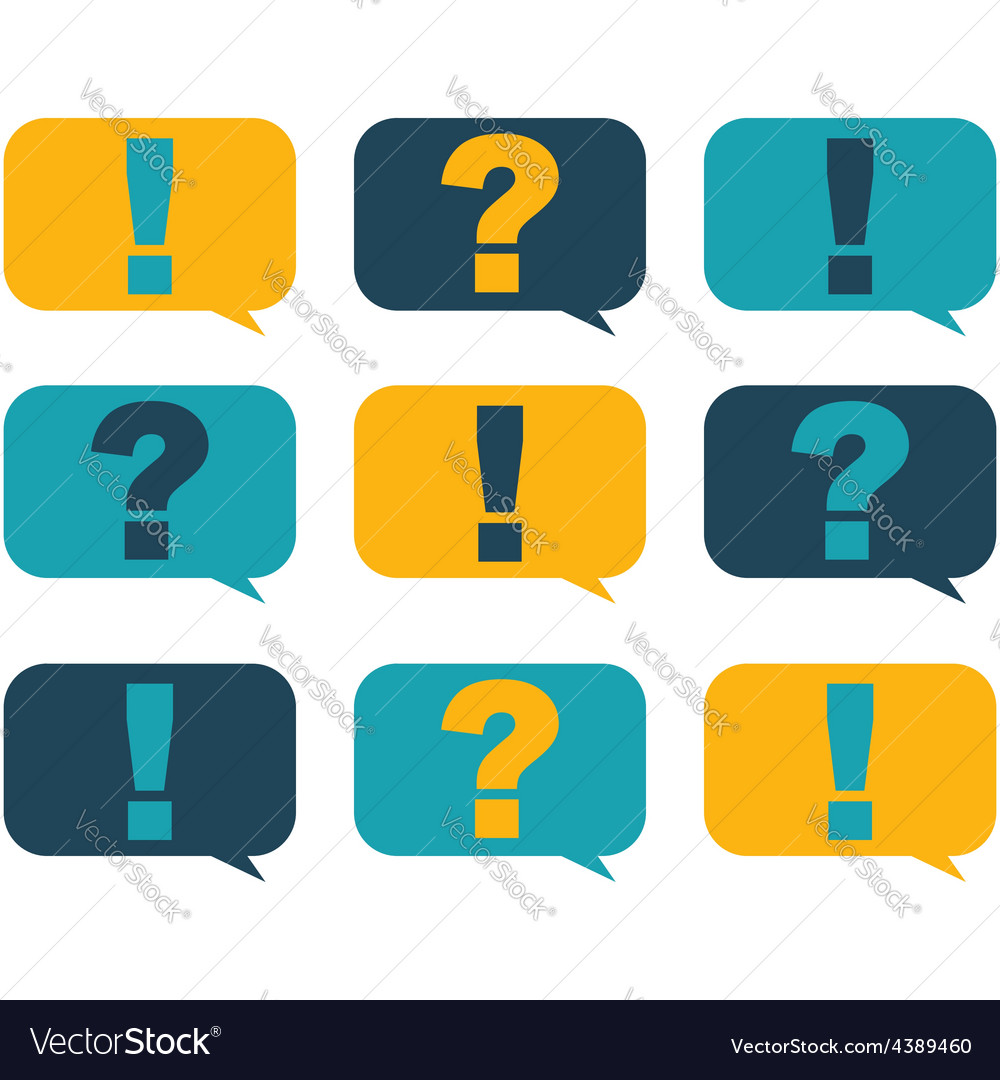 Question and surprise vector | Price: 1 Credit (USD $1)