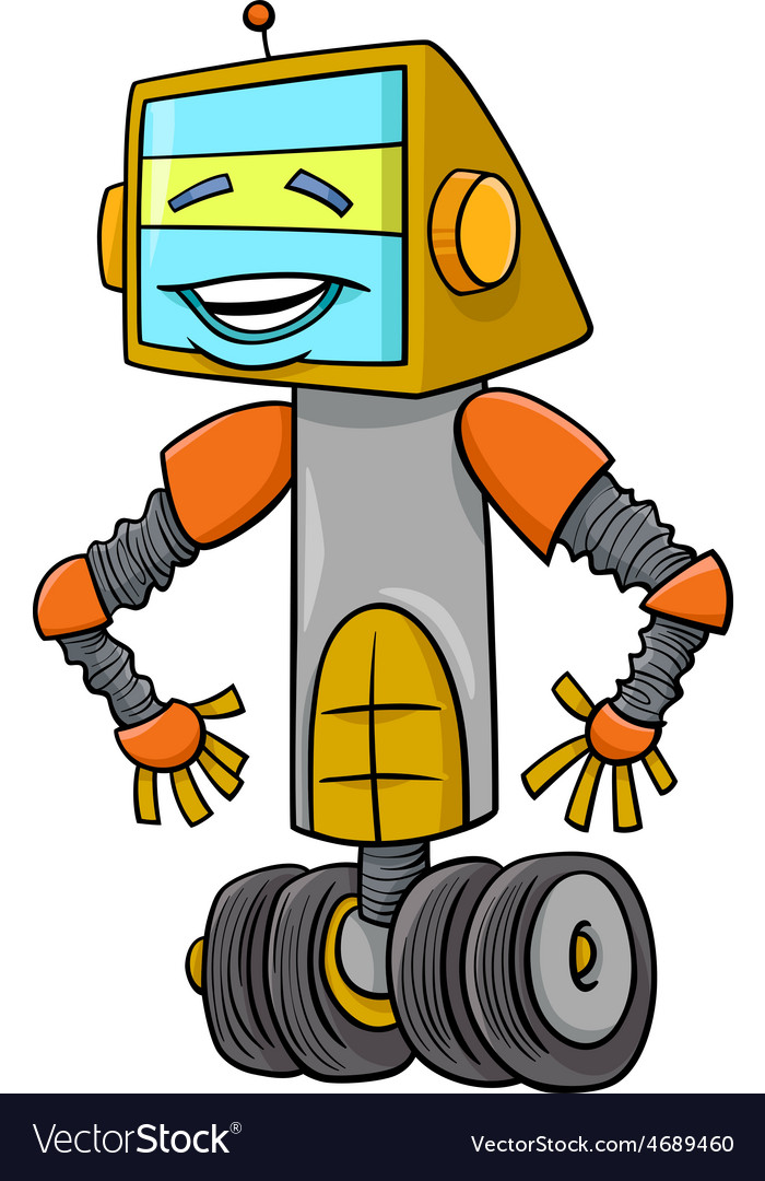 Robot cartoon character vector | Price: 1 Credit (USD $1)