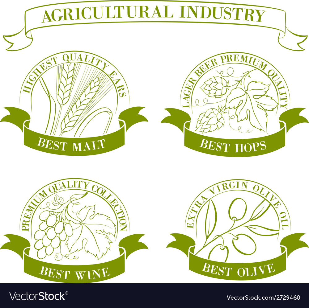 Set of emblems and labels vector | Price: 1 Credit (USD $1)