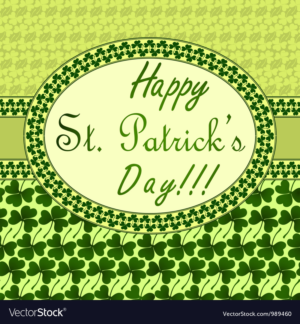 St patricks day invitation vector | Price: 1 Credit (USD $1)