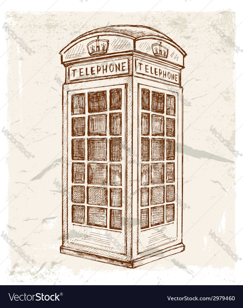 Telephone cabin vector | Price: 1 Credit (USD $1)