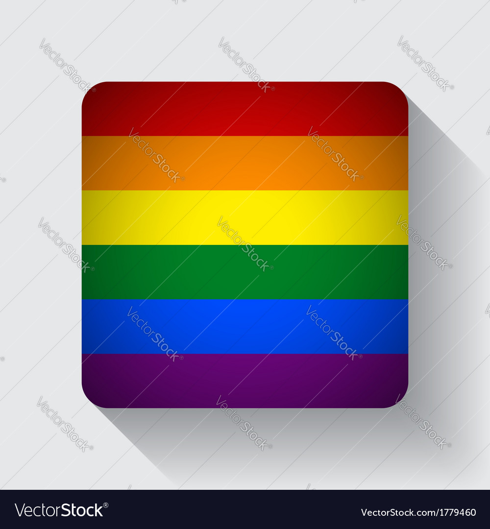 Web button with rainbow flag vector | Price: 1 Credit (USD $1)