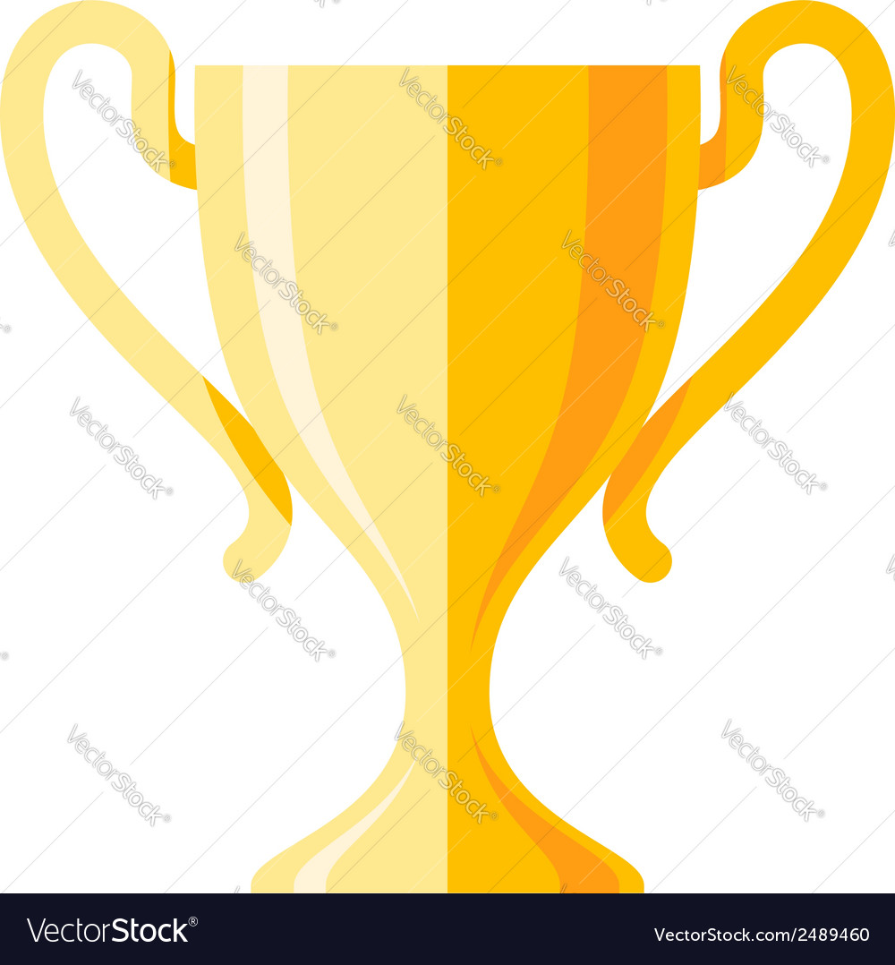 Winner cup flat icon vector | Price: 1 Credit (USD $1)