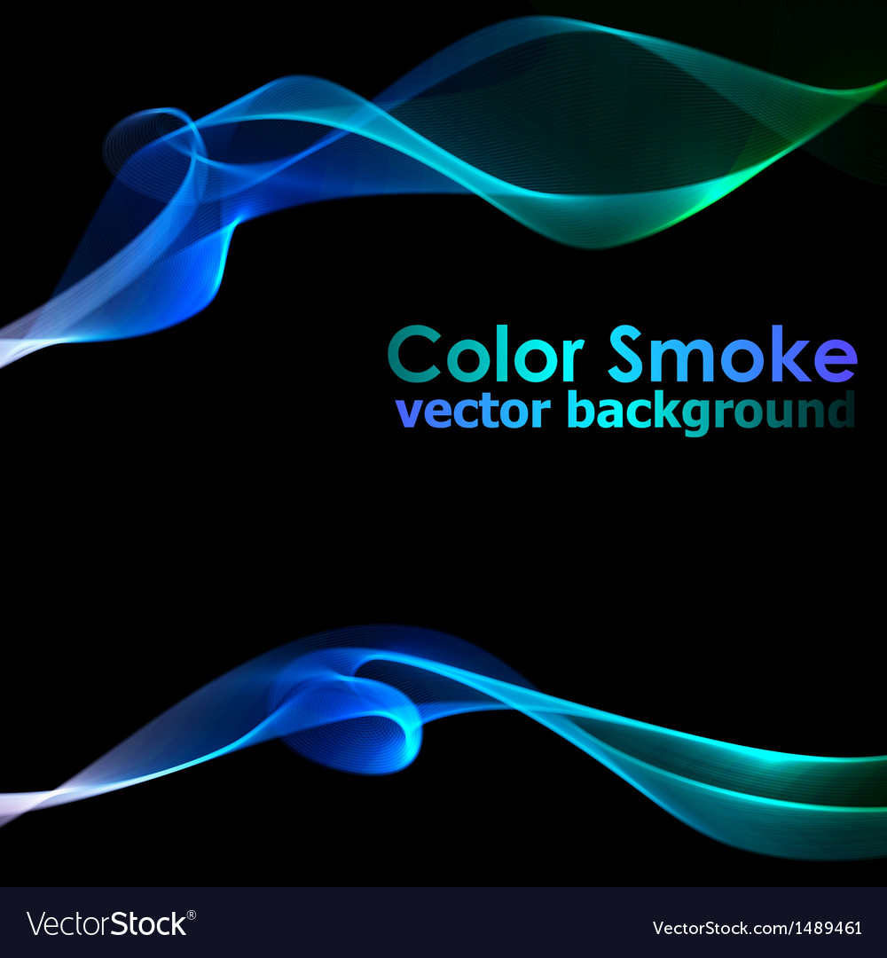 Abstract blue smoke background vector | Price: 1 Credit (USD $1)