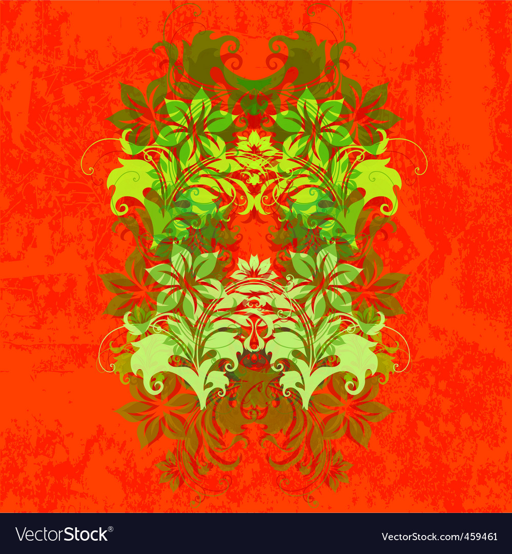 Background with flowers russian inspired vector | Price: 1 Credit (USD $1)
