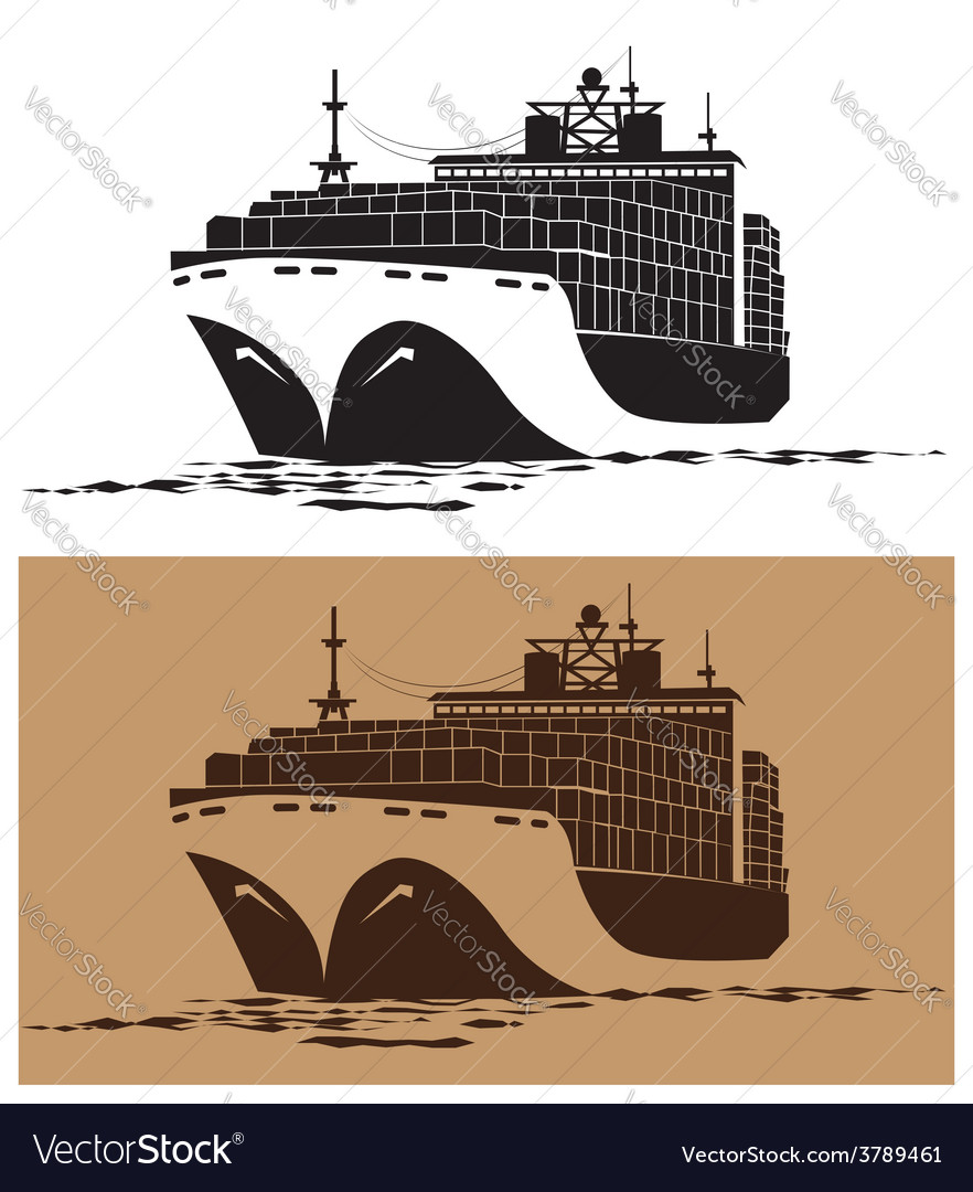 Cargo ship vector | Price: 1 Credit (USD $1)
