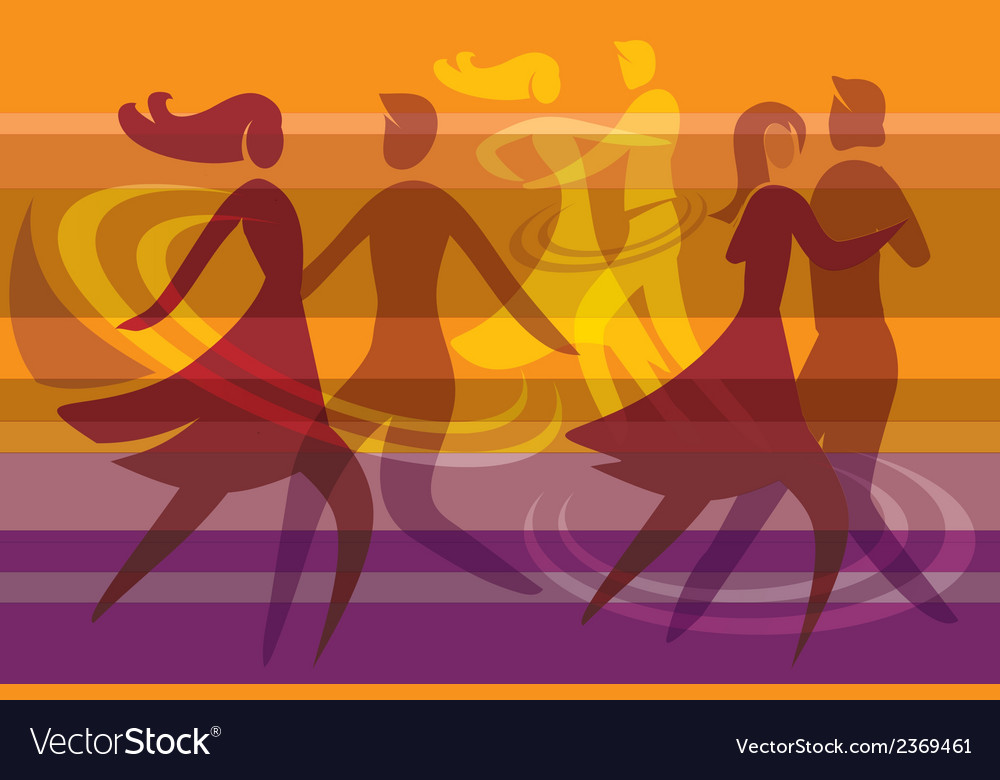 Dancing colorful background vector | Price: 1 Credit (USD $1)