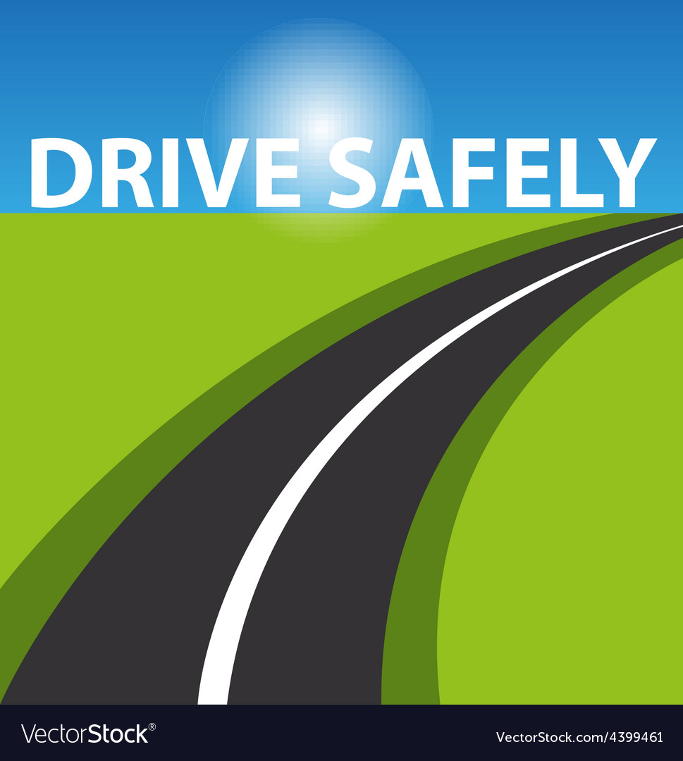 Drive safely background vector | Price: 3 Credit (USD $3)