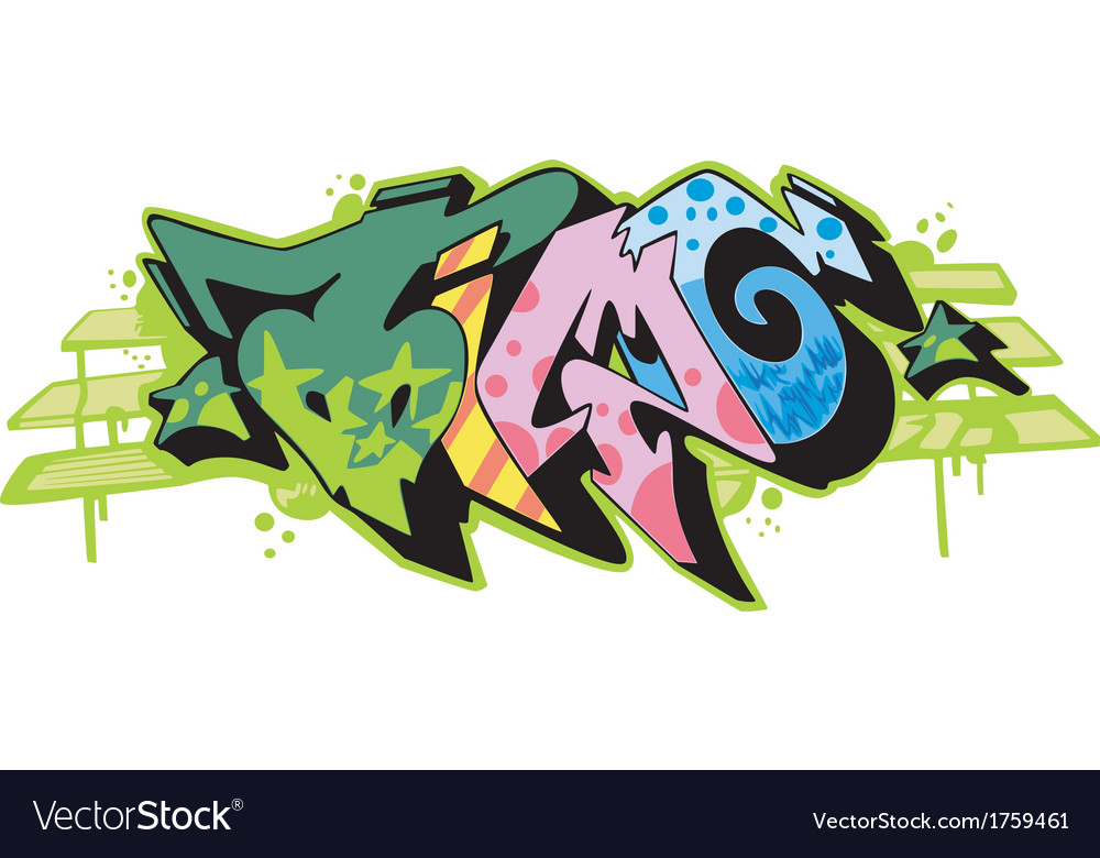 Graffito - time vector | Price: 1 Credit (USD $1)