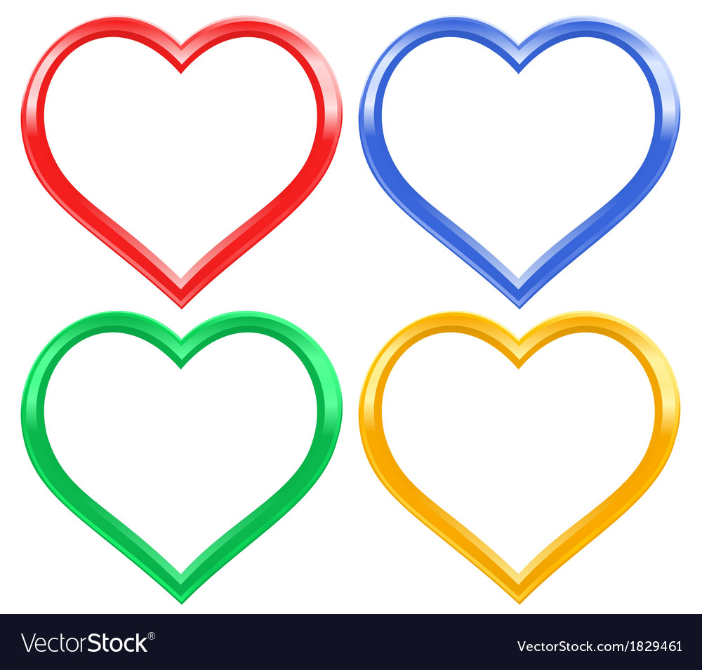 Heart frame set vector | Price: 1 Credit (USD $1)