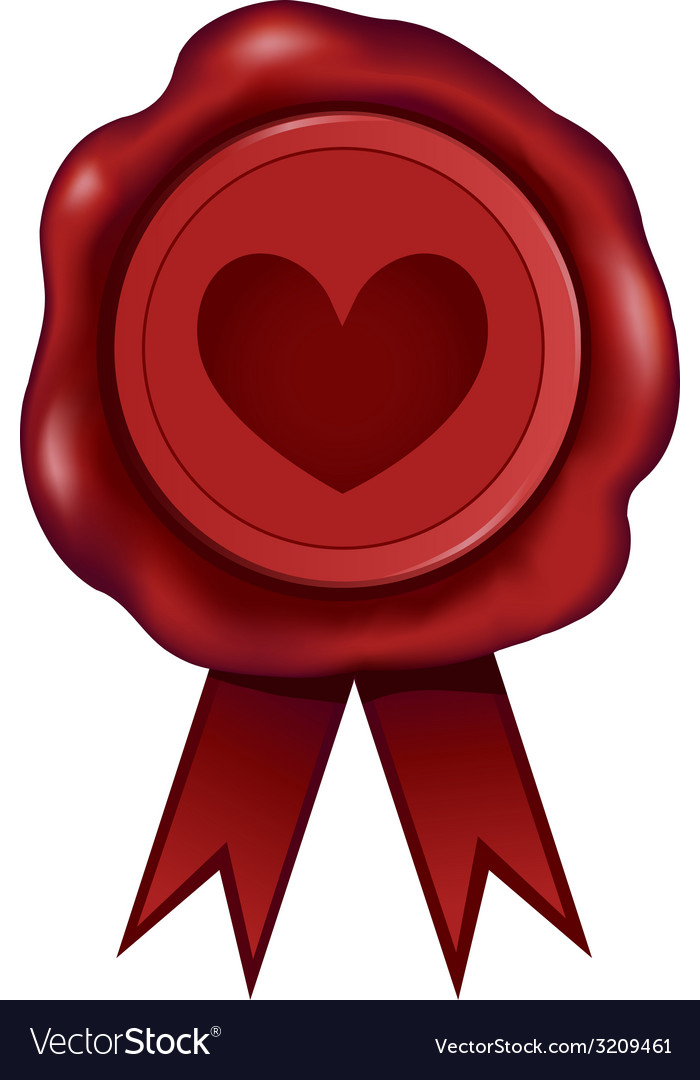 Heart wax seal vector | Price: 1 Credit (USD $1)