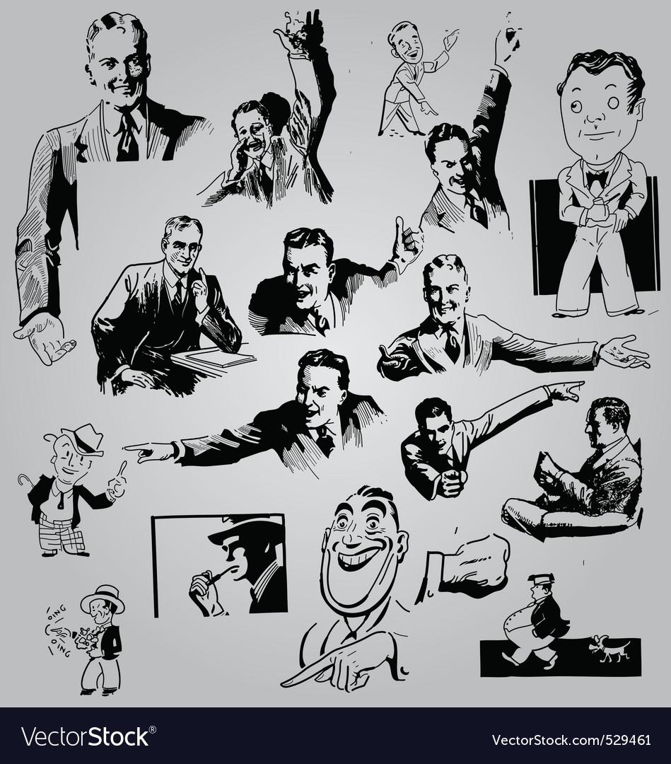Men sketch vector | Price: 1 Credit (USD $1)