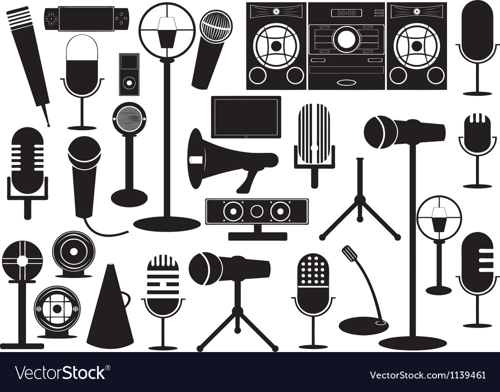 Microphones and gadgets vector | Price: 1 Credit (USD $1)