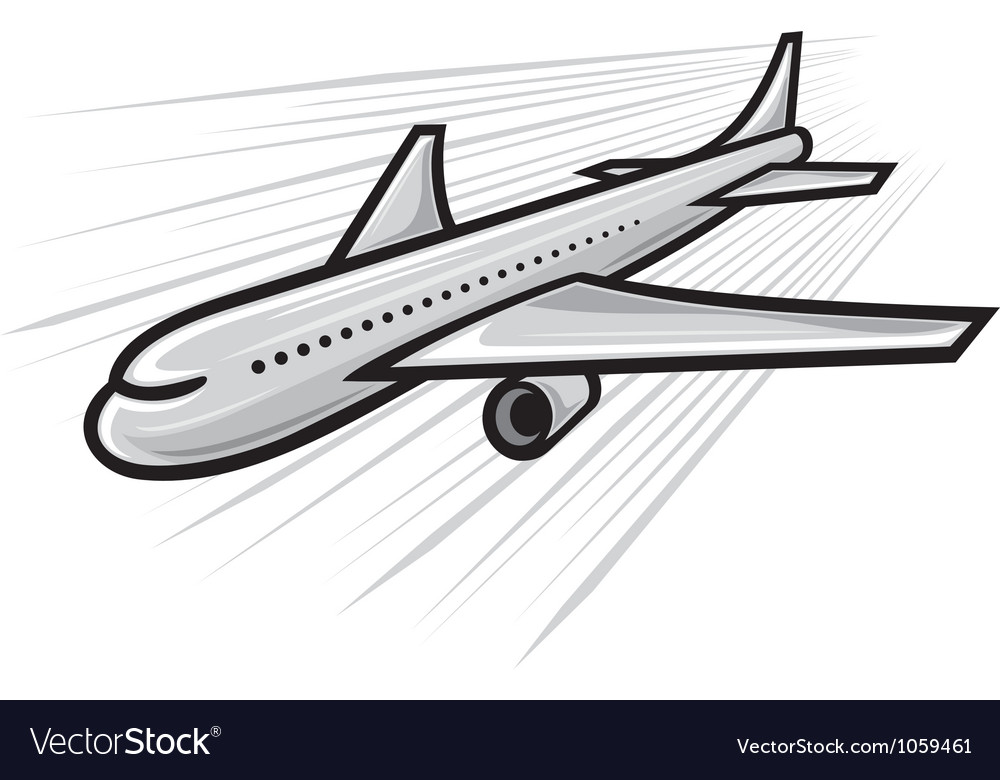Plane - airliner vector | Price: 1 Credit (USD $1)