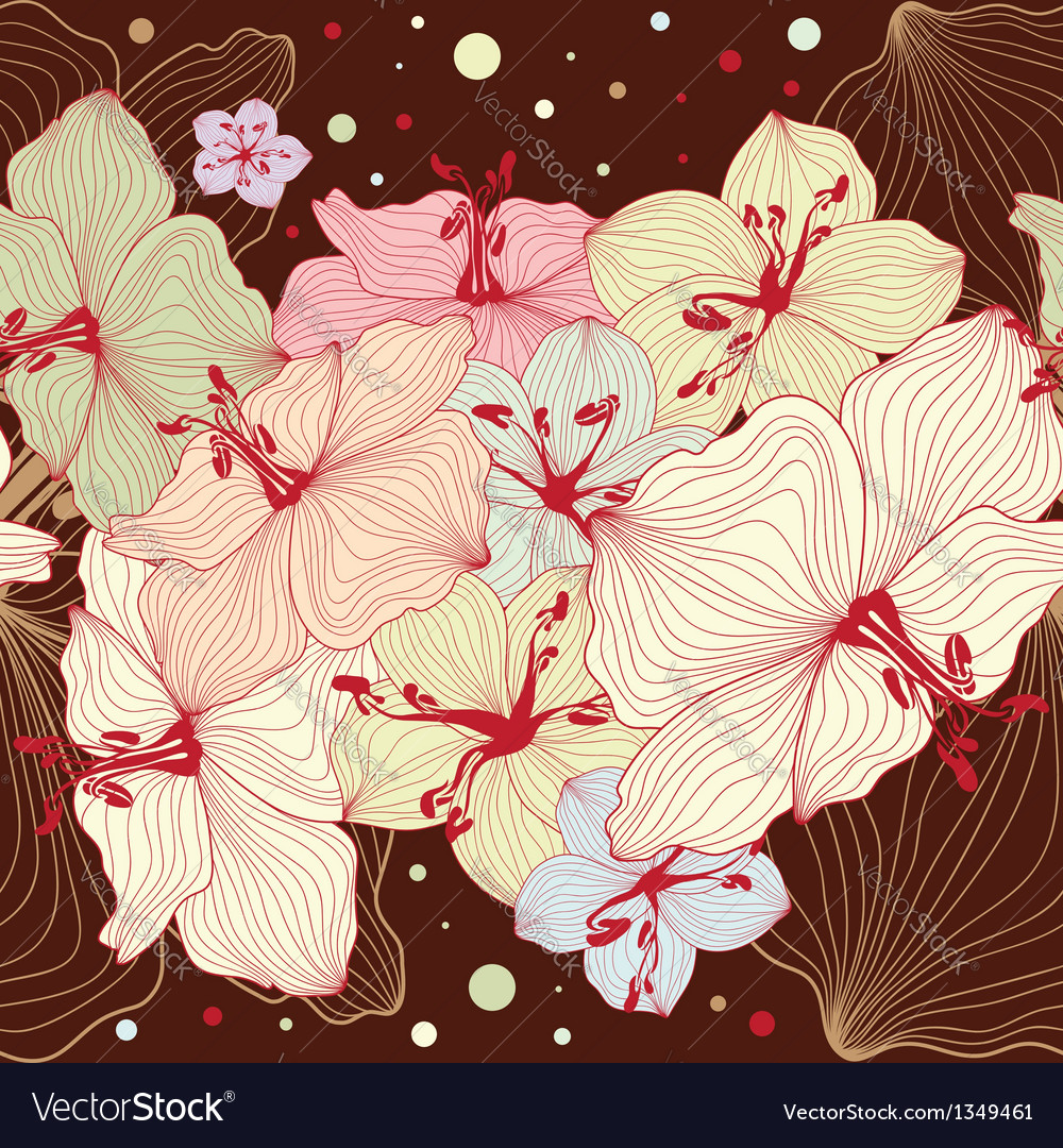Seamless floral design vector | Price: 1 Credit (USD $1)
