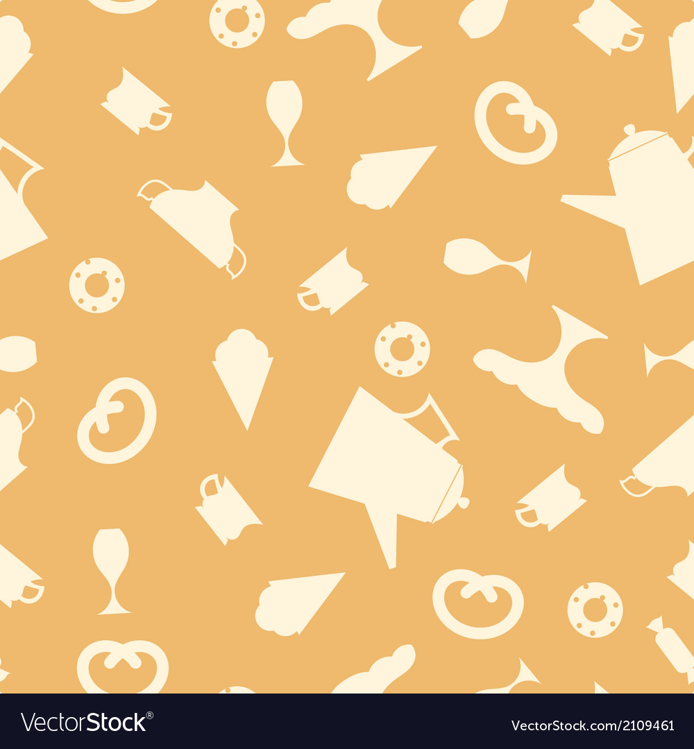 Seamless texture with tea items vector | Price: 1 Credit (USD $1)