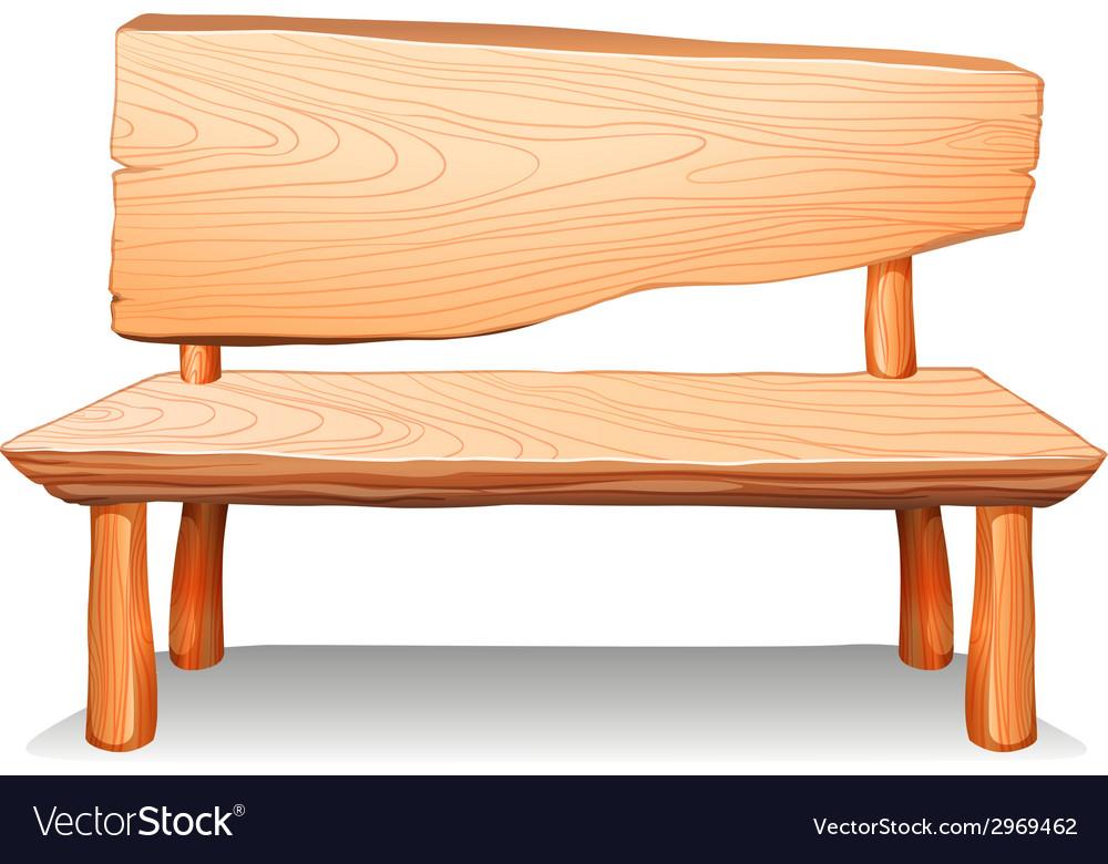 A wooden bench vector | Price: 1 Credit (USD $1)