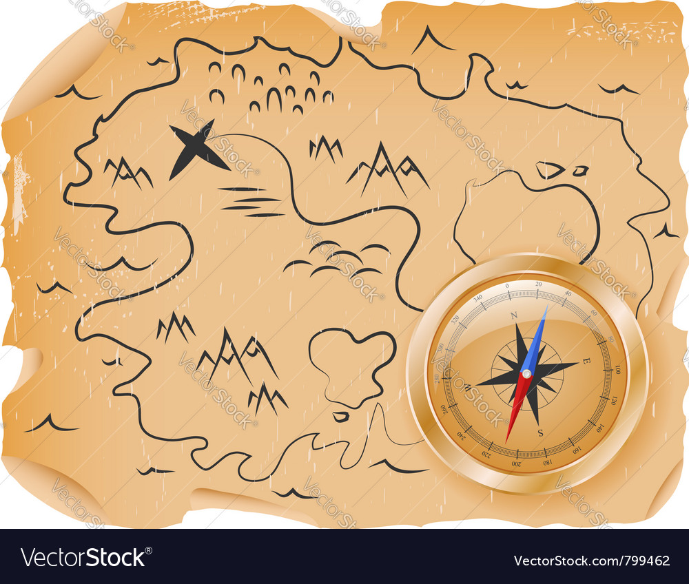 Ancient treasure map vector | Price: 1 Credit (USD $1)