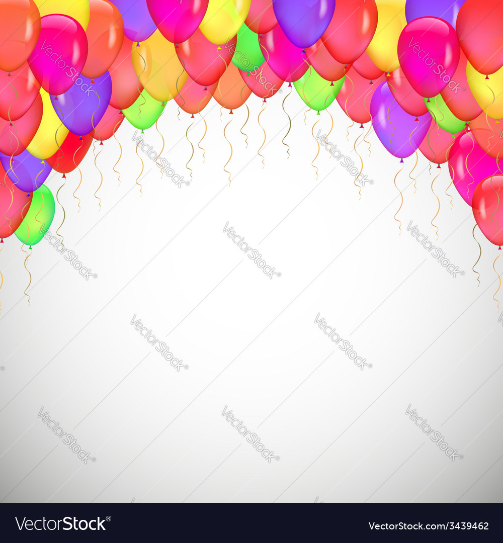 Background of blue balloons vector | Price: 1 Credit (USD $1)