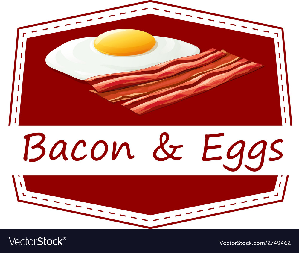 Bacon and eggs vector | Price: 1 Credit (USD $1)