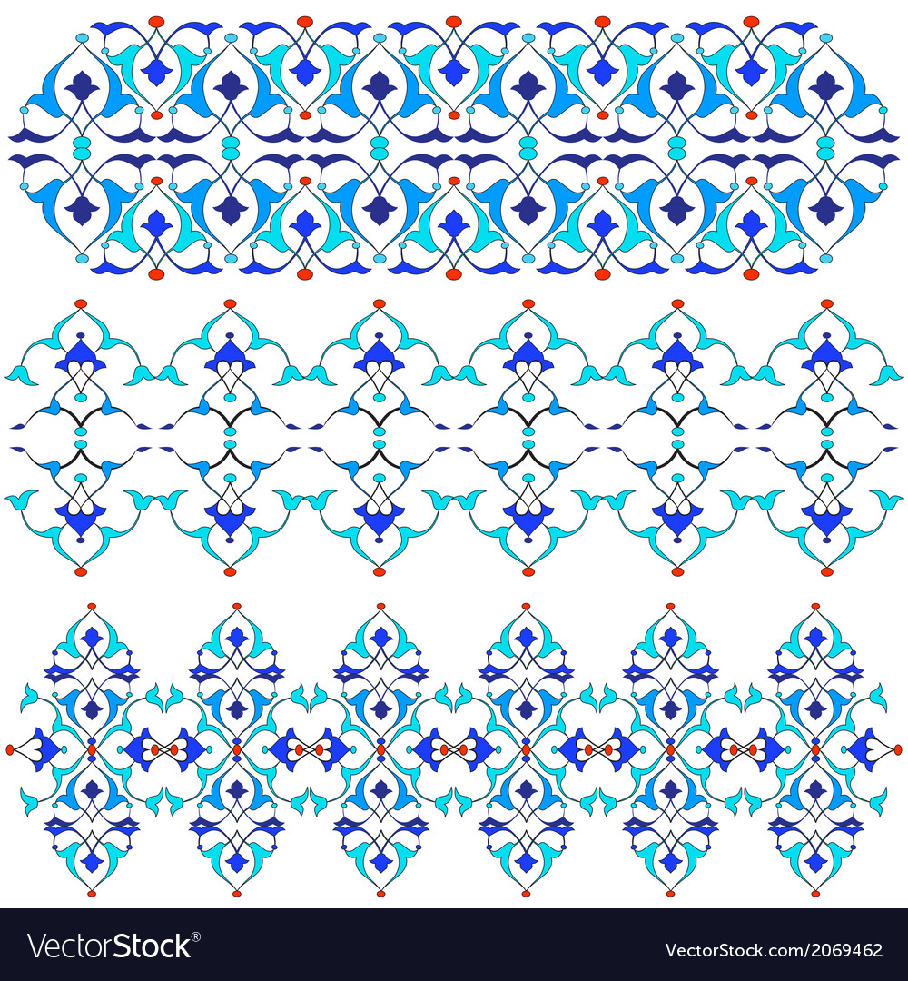 Blue oriental border and ornament fifteen vector | Price: 1 Credit (USD $1)