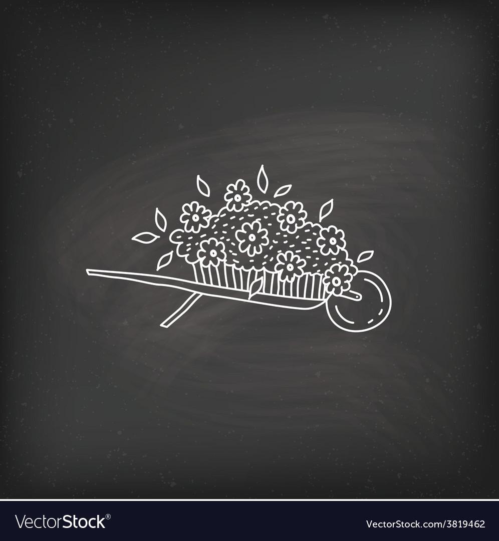 Doodle garden cart vector | Price: 1 Credit (USD $1)