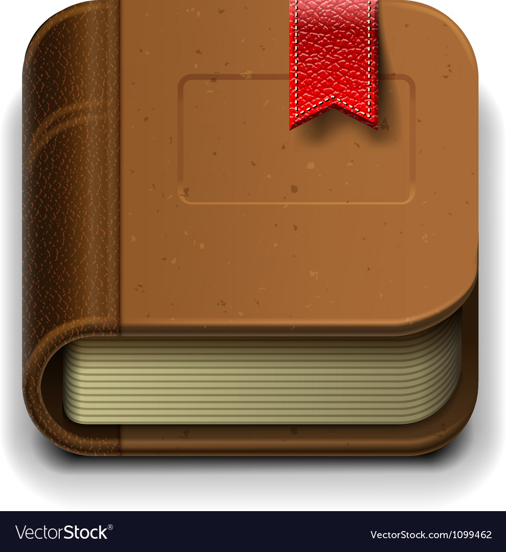 Ebook icon eps10 vector | Price: 3 Credit (USD $3)