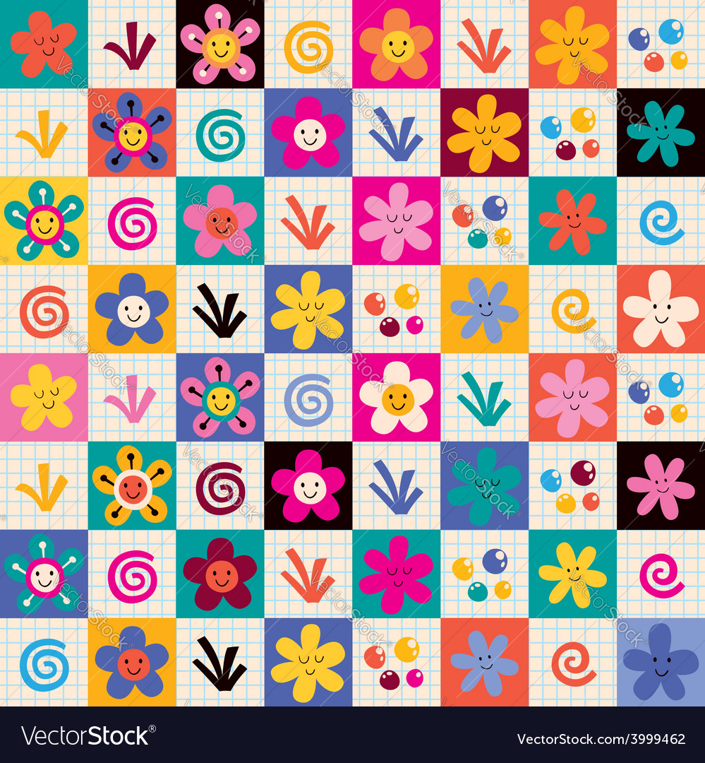 Flowers pattern 4 vector | Price: 1 Credit (USD $1)