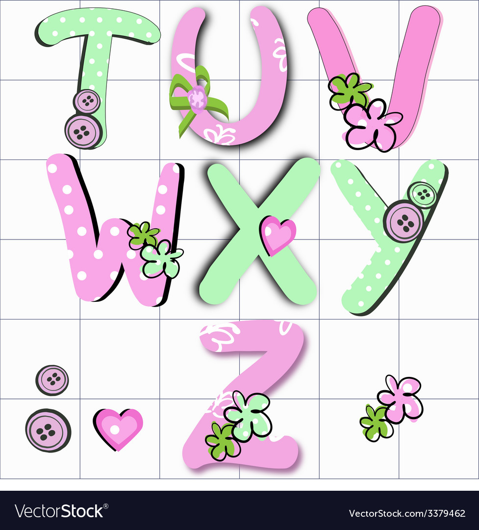 Girly letter vector | Price: 1 Credit (USD $1)