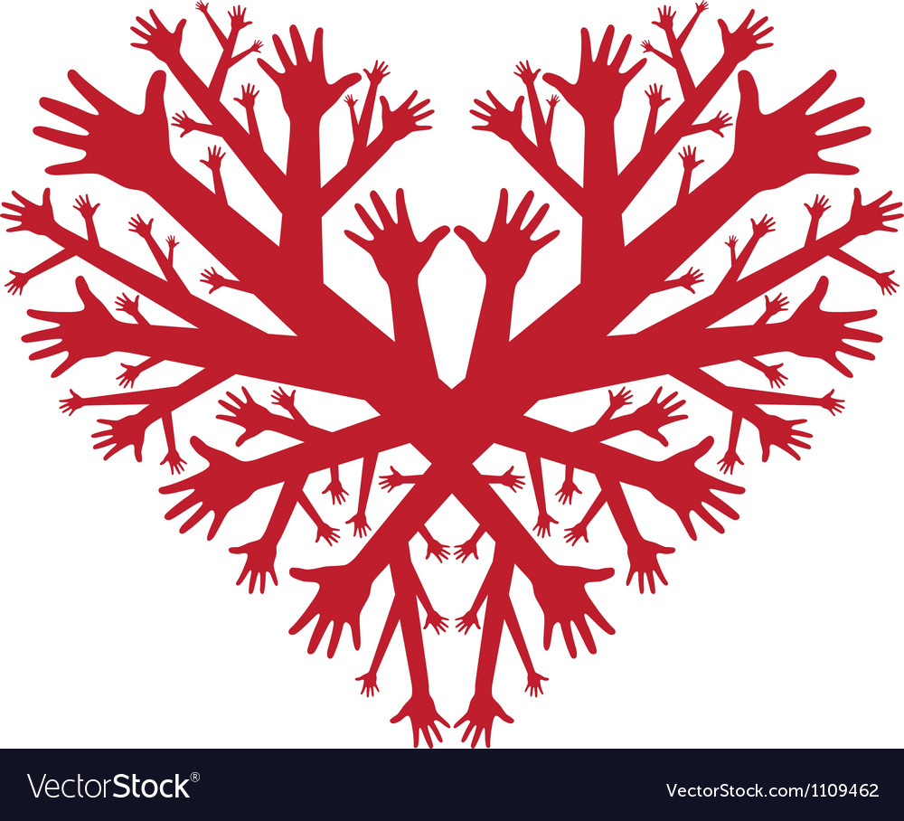 Hearth of hands vector | Price: 1 Credit (USD $1)