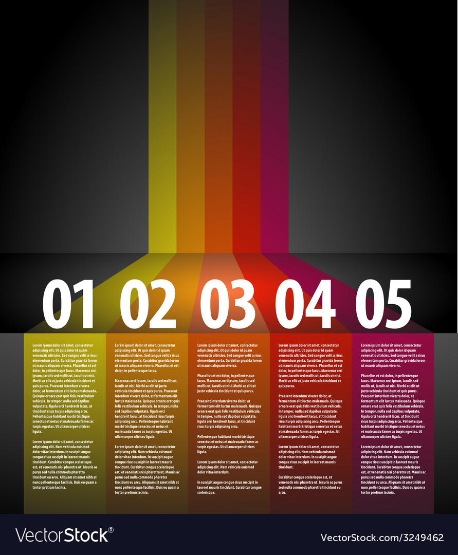 One two three four five - progress background vector | Price: 1 Credit (USD $1)