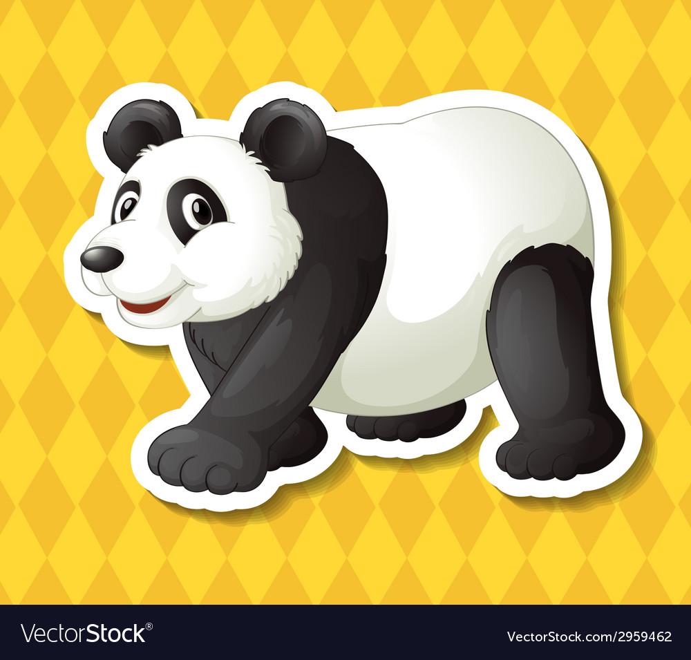 Panda vector | Price: 1 Credit (USD $1)