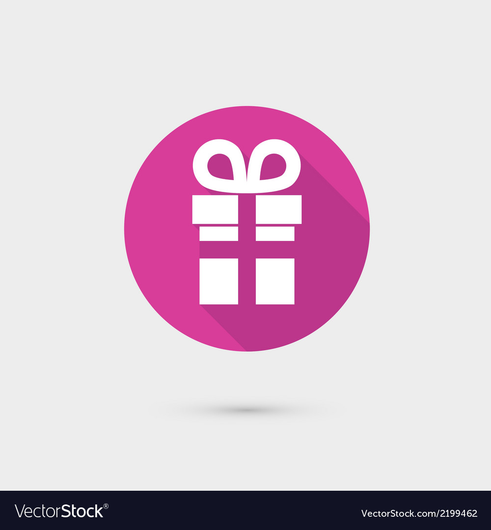 Present gift box icon flat design for web and vector | Price: 1 Credit (USD $1)
