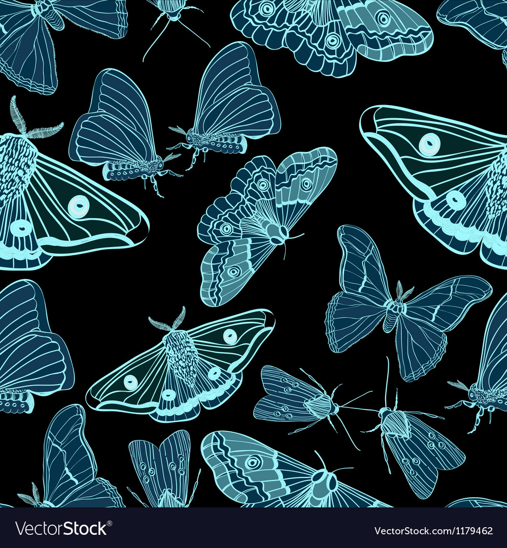 Seamless moth background vector | Price: 1 Credit (USD $1)
