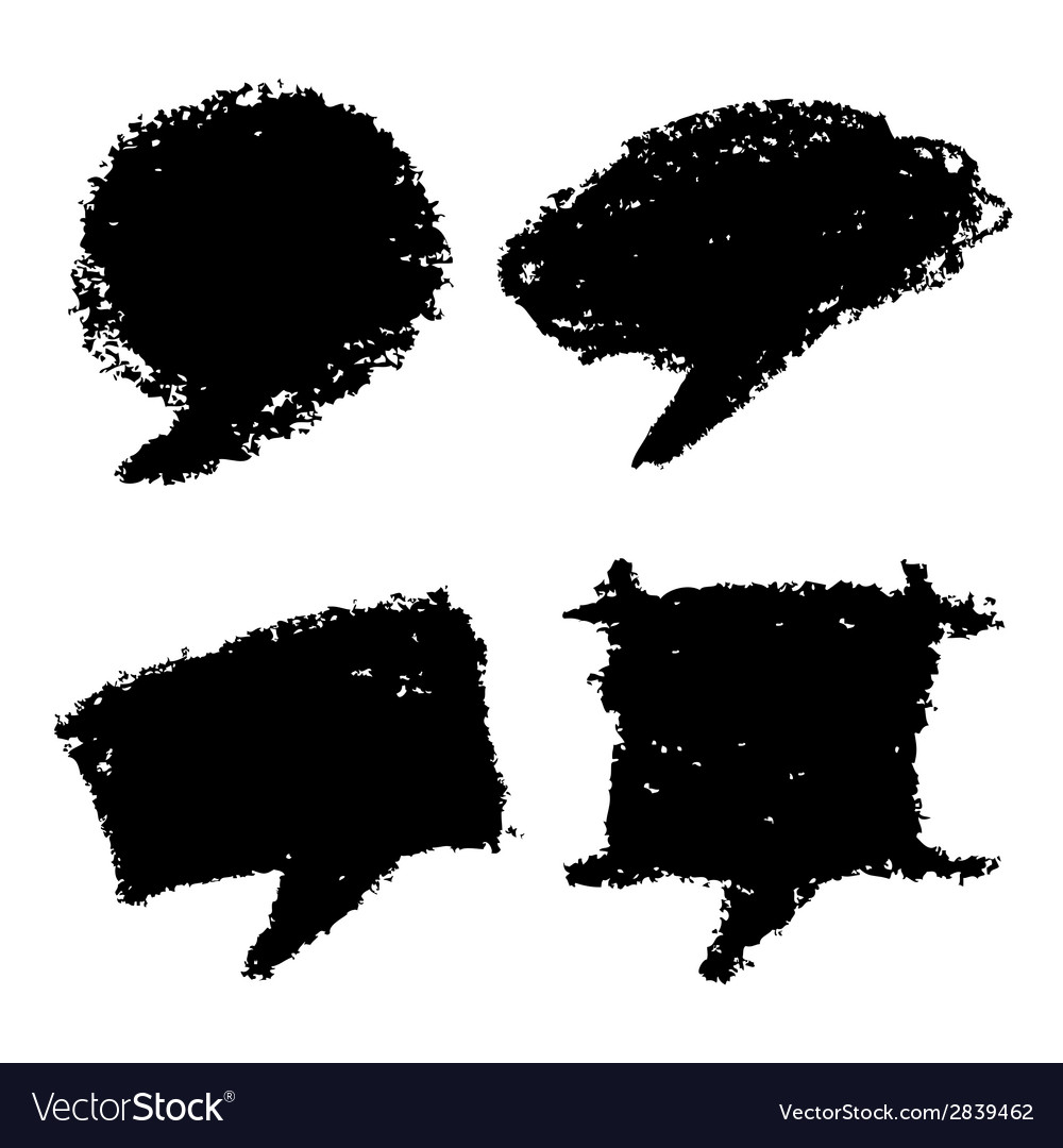 Set of hand drawn grunge bubbles vector | Price: 1 Credit (USD $1)