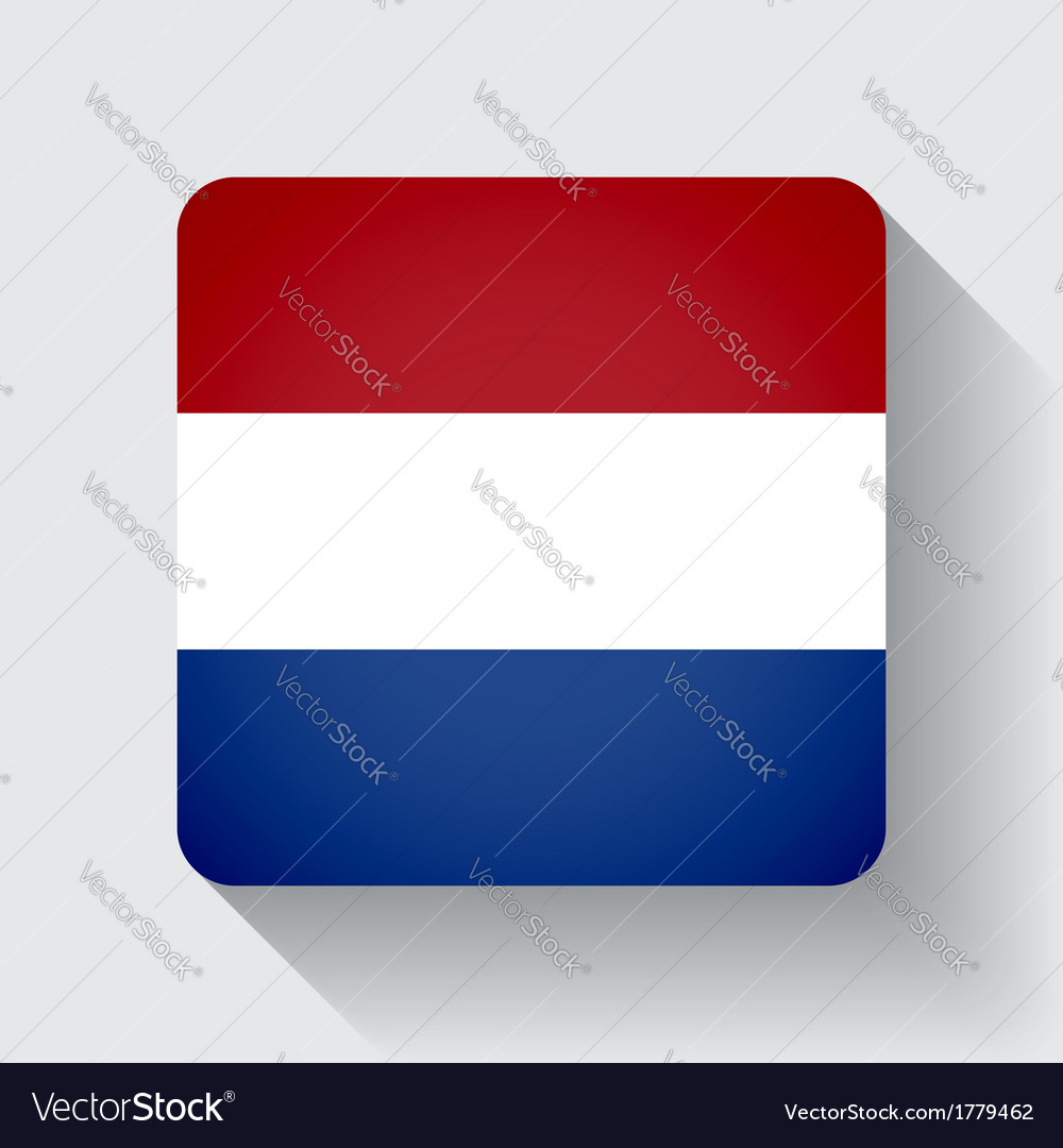 Web button with flag of netherlands vector | Price: 1 Credit (USD $1)