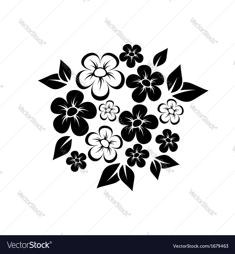 Abstract bridal bouquet vector | Price: 1 Credit (USD $1)