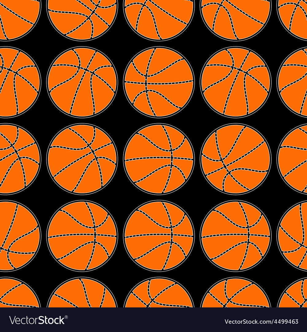 Basketball with stitching detail seamless pattern vector | Price: 1 Credit (USD $1)