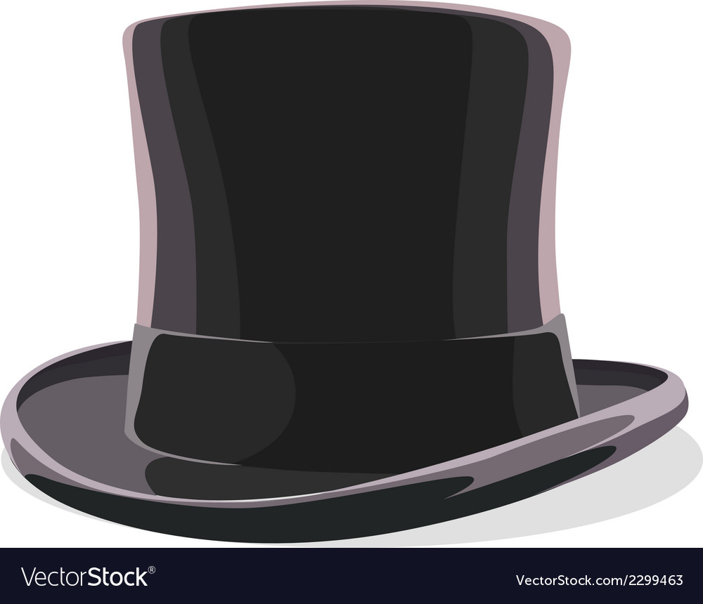 Black hat isolated vector | Price: 1 Credit (USD $1)
