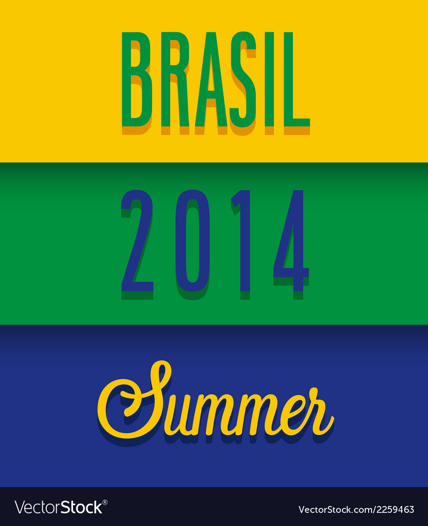 Brasil 2014 summer vector | Price: 1 Credit (USD $1)